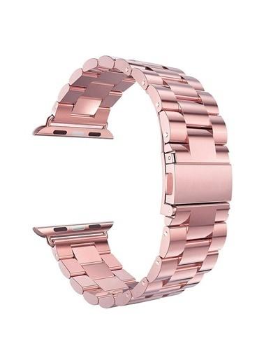 Microsonic Apple Watch SE 40mm Metal Stainless Steel Kordon Pudra